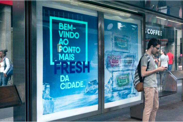 Marketing interativo da Trindent Fresh em São Paulo.