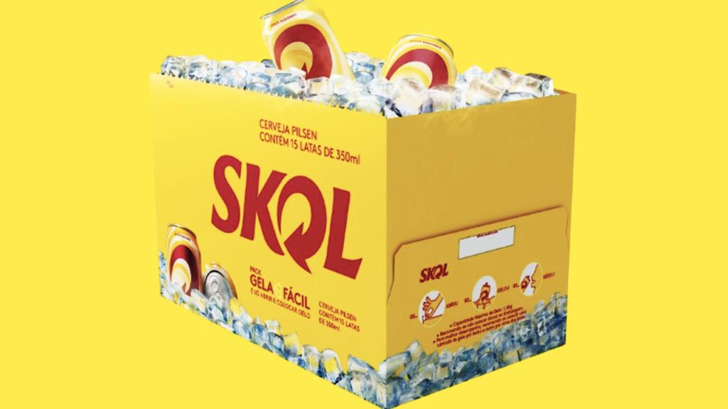 Marketing estratégico: Skol lança embalagem que se transforma em cooler